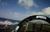 Head On F-18 POV Carrier Launch