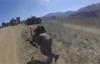 US Soldiers Dodge Taliban Fire