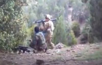 Troop Fires RPG at Taliban Bunker