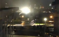 Hurricane Sandy Transformer Explosion