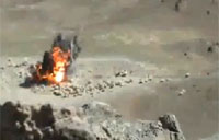 French Mirage Bombs Taliban Bunker
