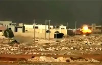 FSA Tank Slams Syrian Army Tank