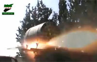 FSA Mounts Rocket Launcher on Pick Up