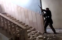 Firefight Inside Syrian Gov Bulding