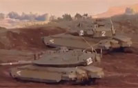 Israeli Tanks Shoot Syrian Artillery Units