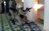 Syrian Rebels Battle Inside Mosque