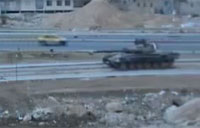 Syrian Tank Rocked by IED Blast