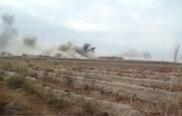Taliban Fighters Pounded by Artillery