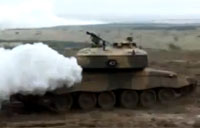 Challenger Tank Lays Smoke Screen