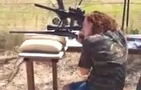 Humor: Girl vs. Rifle Scope