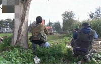 Syrian Rebels Shoot at Random Cars