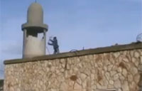 Syrian Rebels Destroy Small Minaret