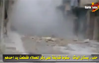Syrian Rebel Gets Hit by Artillery