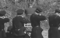 WW2 Italian Fascist Police Chief Executed