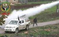 FSA Fires Truck Rocket Launcher