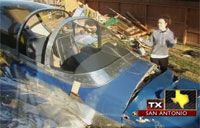 Plane Crash-Lands in Backyard