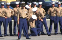 Marines Faint During Graduation