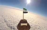 Syrian Flag Sent to Space