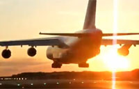 Cool Antonov 124 Close-Up Landing