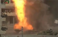 SAA Tank Turned Into Roman Candle