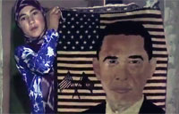 Afghan Girl Weaves Rug for Obama