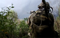Troops Under Fire by Afghan River