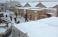 Mulit-nation Snowball Fight in Afghanistan