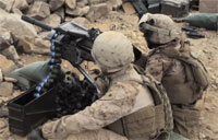 Marines Fire MK19 Grenade Launcher