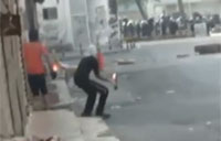 Police Sniper Shoots Molotov Cocktail!