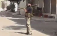 Syrian Rebel Shows Nerves of Steel