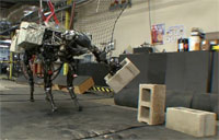 BigDog Robot Hurls Concrete Blocks!