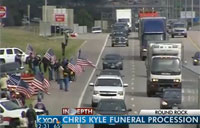 Funeral Procession for Hero Chris Kyle