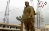 Assad Regime Statue Face Plants