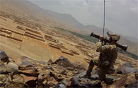 Soldiers Fire AT-4 & M249 at Taliban