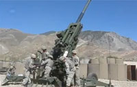 M77A2 Howitzer Fired on Taliban