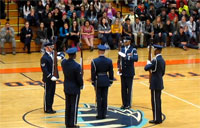 USAF Drill Team Schools Students
