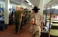 Female Marine DI in Action