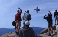 A-10 Buzzes Hikers on Mt. Liberty