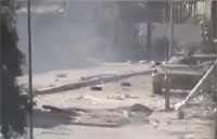 Heavy Tank Destroyed in Syrian Battle