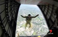 Paratroopers Drop Into Brisbane