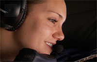 KC-135 with Female Boom Operator
