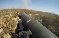 Gustav Fired at Taliban in Firefight