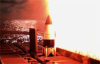 Navy Launches Interceptor Missile