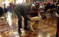 Veteran Reunited with Bomb Dog