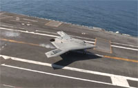 X-47B Touch & Go Carrier Landing