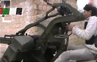 FSA Gunner Almost Taken Out!