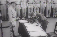 Japanese Sign Final Surrender WW2