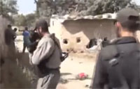 Group of Rebels Struck by Shell