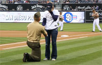 Marine Proposes at Padres Game!