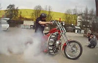 Guy Builds Bike with Aircraft Engine